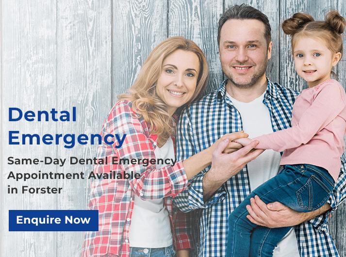 dental emergency promo banner forster